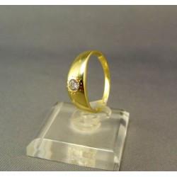 Zlatý prsteň žlté zlato so zirkónom DP54255/1Z
