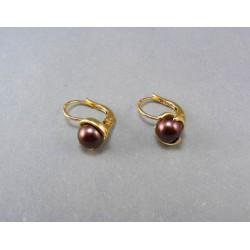 Zlaté náušnice s perlou DA360