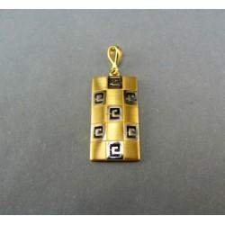 Zlatý prívesok žlté a biele zlato DI295I