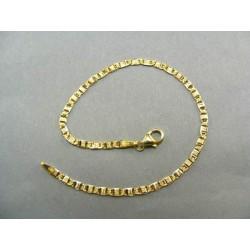 Zlatý náramok vzorovaná žiletka DN18235