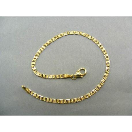 Zlatý náramok vzorovaná žiletka