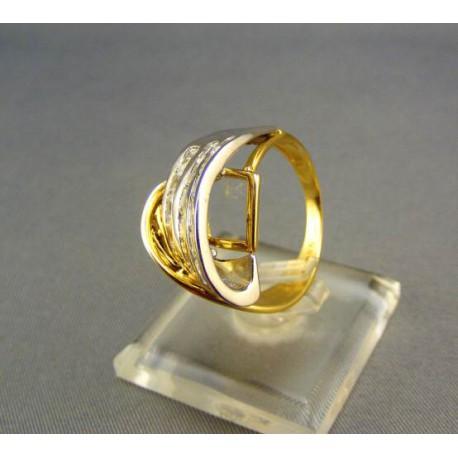 Zlatý dámsky prsteň s kamienkami
