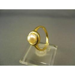 Zlatý prsteň s perlou kultivovanou žlté zlato VP54325Z