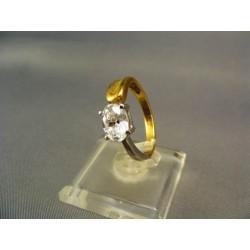 Zlatý dámsky prsteň so zirkónom viacfarebné zlato  VP56394V