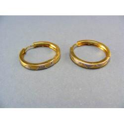Zlaté náušnice z viacfarebného zlata VA304/1