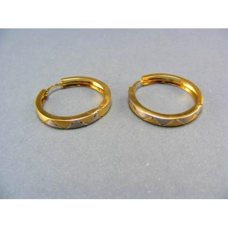 Náušnice z viacfarebného zlata