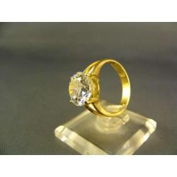 Zlatý prsteň dámsky so zirkónom žlté zlato VP55510Z