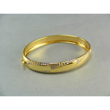 Zlatý náramok pevný dvojfarebný
