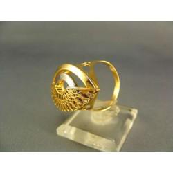 Zlatý prsteň dámsky so vzorom viacfarebné zlato VP63615V