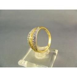Zlatý prsteň dámsky so zirkónom viacfarebné zlato VP56370V