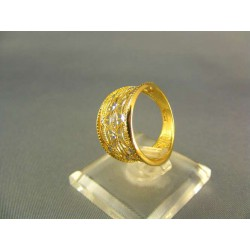 Zlatý prsteň vyrezávany žlté zlato VP53260Z