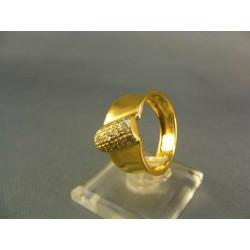 Zlatý prsteň so zirkónom žlté zlato VP57420Z
