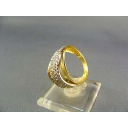 Zlatý prsteň dámsky viacfarebné zlata VP54646V