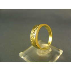 Zlatý dámsky prsteň kamienky žlté zlato VP54394Z