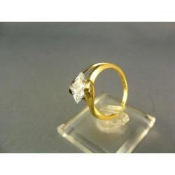 Zlatý dámsky prsteň s kamienkom žlté zlato VP51302Z