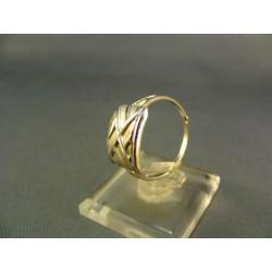 Zlatý prsteň s pekným vzorom biele zlato VP57226B