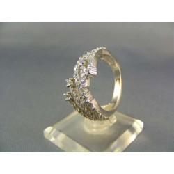 Zlatý dámsky prsteň zaujímavy biele zlato VP57690B