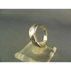 Zlatý prsteň dámsky elegantný biele zlato VP50337B