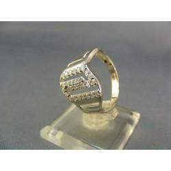Zlatý prsteň dámsky netradičný biele zlato VP58346B