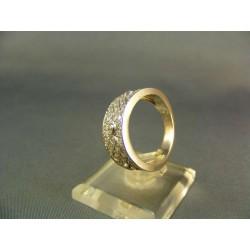 Zlatý prsteň dámsky biele zlato VP57727B