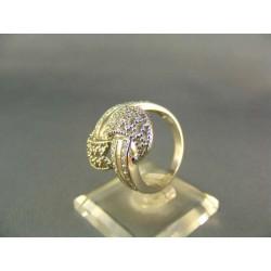 Zlatý prsteň so zaujímavym vzorom biele zlato VP56594B