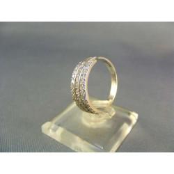 Zlatý prsteň biele zlato VP54465B