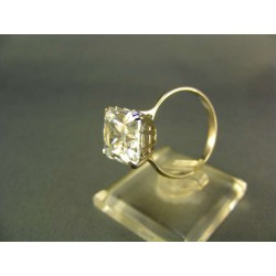 Zlatý dámsky prsteň biele zlato kamienok zirkónu VP58468B