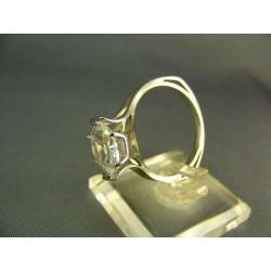 Zlatý prsteň so zirkónom biele zlato VP62533B