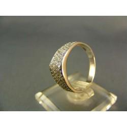 Zlatý prsteň elegantný dámsky biele zlato VP57269B