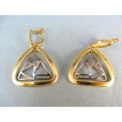Zlaté náušnice zaoblený trojuholník VA639V