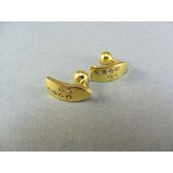 Zlaté náušnice žlté zlato kamienky VA273Z
