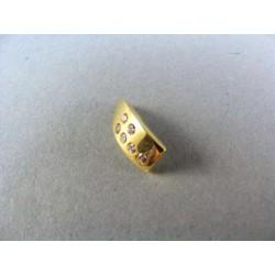 Zlatý prívesok jednoduchý s kamienkami VI111Z