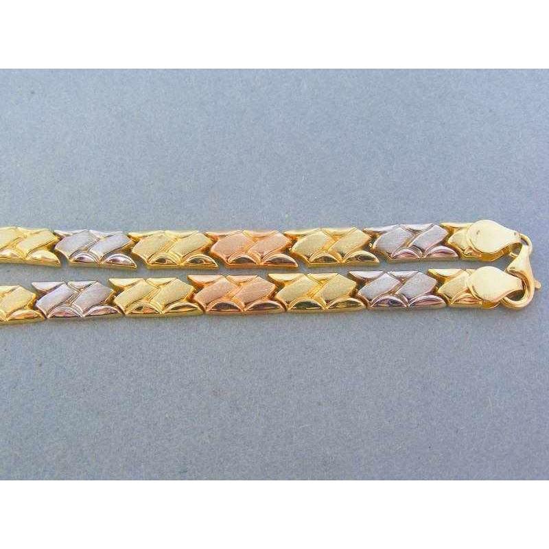 514912fb2 Zlatá retiazka trojfarebné zlato DR461240V. Loading zoom