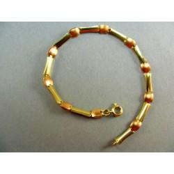 Zlatý náramok dvojfarebne zlato VN185360V