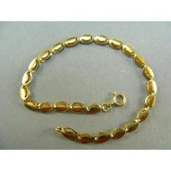 Zlatý náramok oválne plné očka DN19346