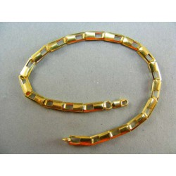 Zlatý náramok žlté zlato pozdĺžne očka DN20456Z