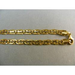 Zlatá retiazka vzorovaná zlato žlté VR501241