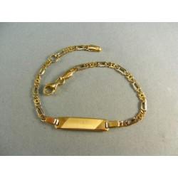 Zlatý náramok detský s podlhovastou platničkou VN155295