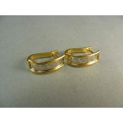 Zlaté náušnice v žltom a bielom zlate so vzorom VA286Z