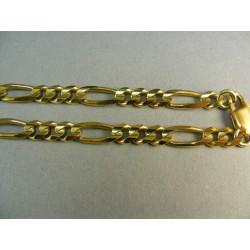 Zlata retiazka hrubá vzor figaro VR504263