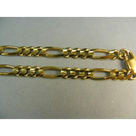 Zlata retiazka hrubá vzor figaro