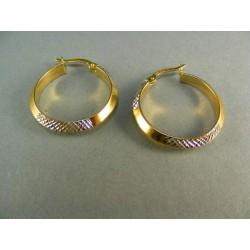 Zlaté náušnice kruhy žlté a biele zlato VA278V