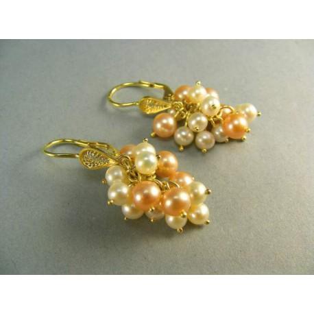 Zlaté náušnice s perličkami