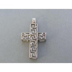 Prívesok ch. oceľ tvar kríž vzorovaný VIKO858