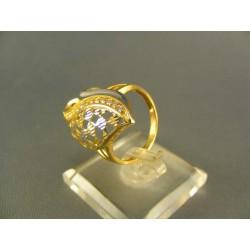 Zlatý prsteň dámsky elegantný viacfarebné zlato DP54326V