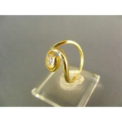Zlatý dámsky prsteň v tvare slimačika žlté zlato DP52387Z