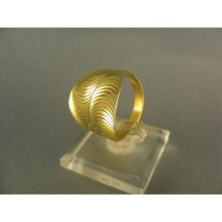 Zlatý prsteň elegantný tvar žlté zlato DP61319Z