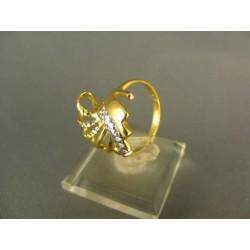 Zlatý prsteň netradičný viacfarebné zlato DP55378V