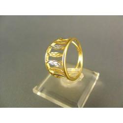 Zlatý prsteň viacfarebné zlata DP55309V