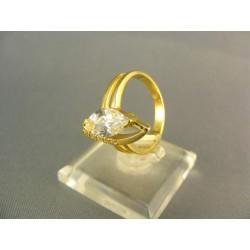 Zlatý prsteň netradičný žlté zlato DP55495Z